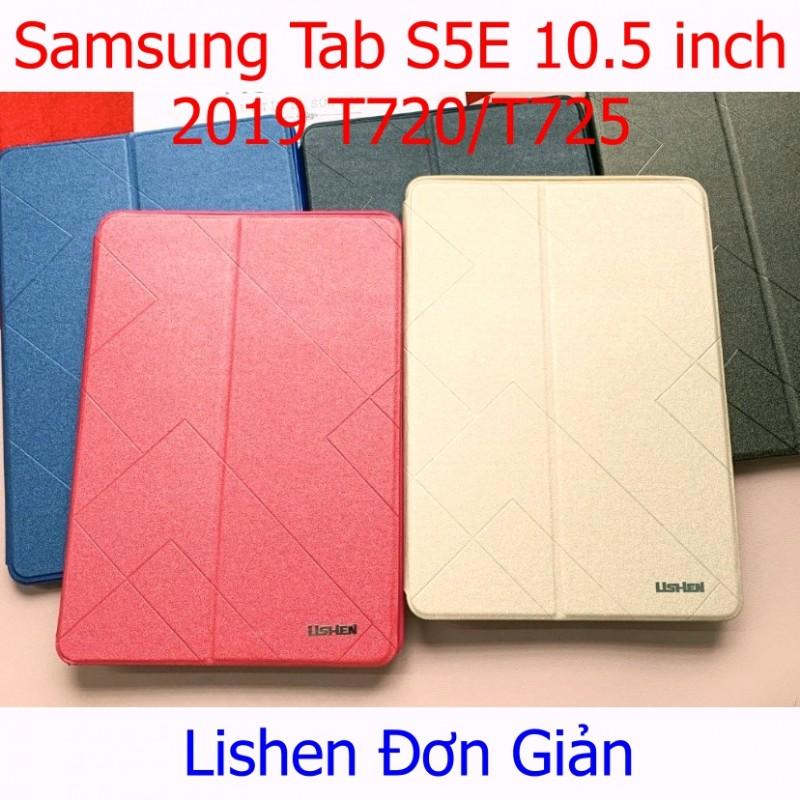 Bao Da Samsung Tab S5E 10.5 inch 2019 (T720/T725) Hiệu Lishen Màu Trơn Đơn Giản