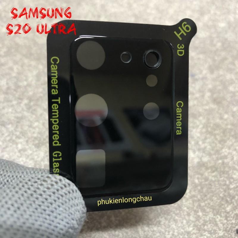 Miếng Dán Cường Lực 3D Bảo Vệ Cụm Camera Sau Samsung S20 Ultra