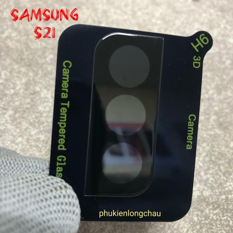 Miếng Dán Cường Lực 3D Bảo Vệ Cụm Camera Sau Samsung S21