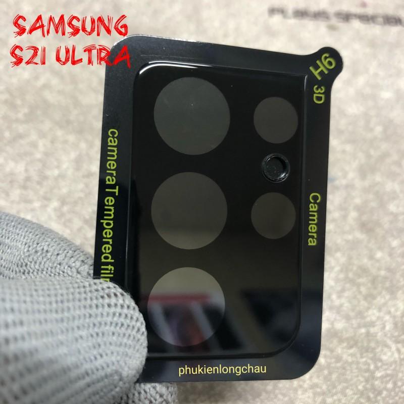 Miếng Dán Cường Lực 3D Bảo Vệ Cụm Camera Sau Samsung S21 Ultra