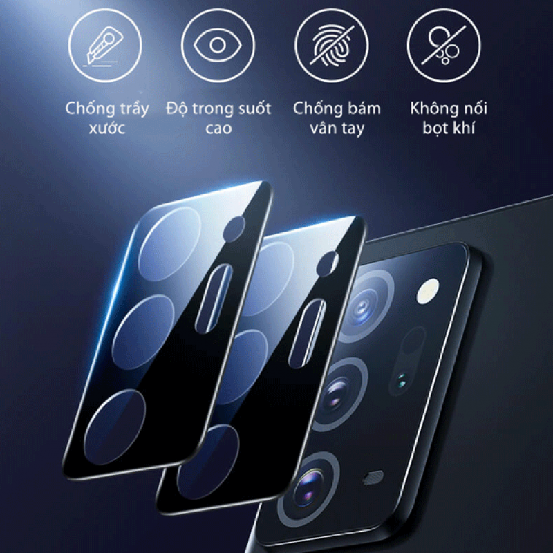 Miếng Dán Cường Lực 3D Bảo Vệ Cụm Camera Sau Samsung A21s