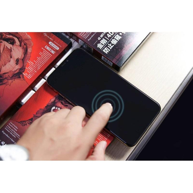 Miếng Dán Cường Lực iPhone 12/12 Pro Chống Nhìn Trộm 4D Kingkong Không Hộp