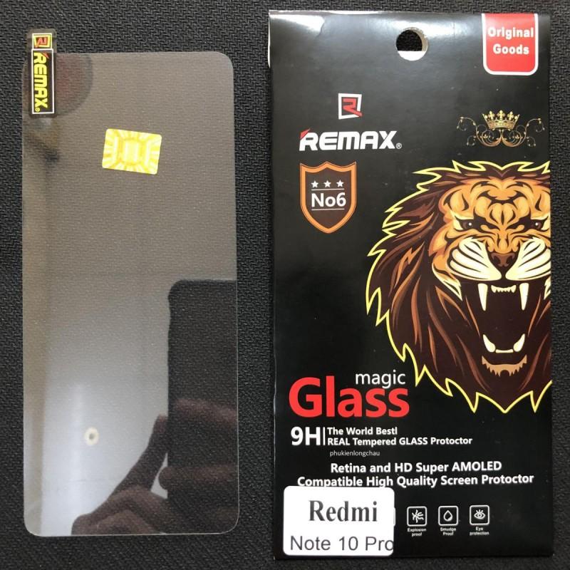Miếng Dán Cường Lực Xiaomi Redmi Note 10 Pro Trong Suốt Mỏng Chính Hãng Remax