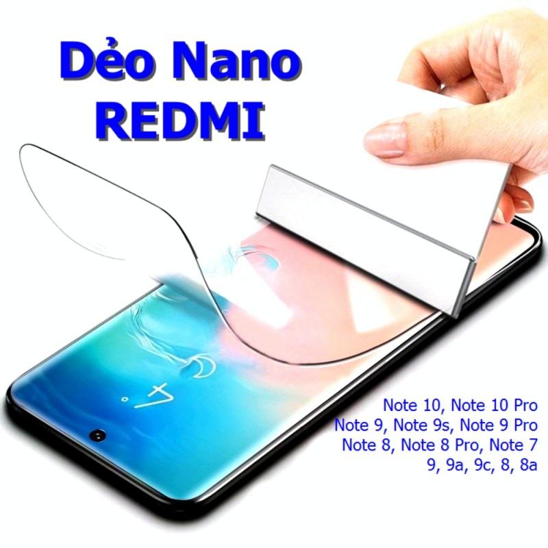 Miếng Dán Màn Hình Xiaomi Redmi 9C Siêu Mỏng Dẻo Nano DCX-9H