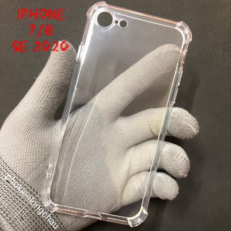 Ốp Lưng iPhone 7/8/SE 2020 Dẻo Trong Suốt Chống Sốc Có Gù Bảo Vệ 4 Gốc