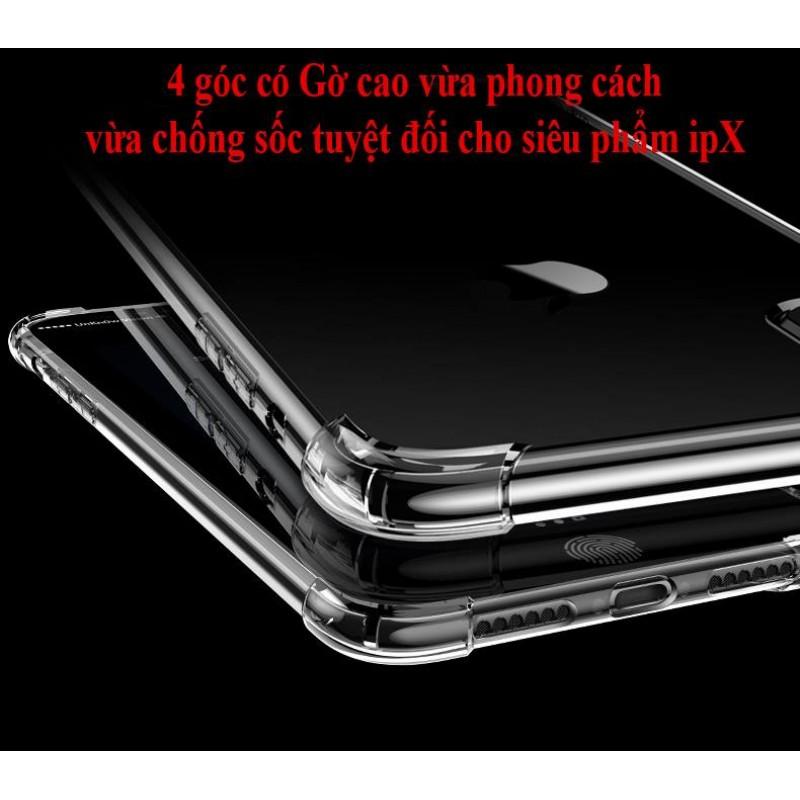 Ốp Lưng iPhone 6 Plus/6s Plus Dẻo Trong Suốt Chống Sốc Có Gù Bảo Vệ 4 Gốc