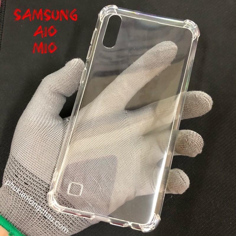 Ốp Lưng Samsung A10/M10 Dẻo Trong Suốt Chống Sốc Có Gù Bảo Vệ 4 Gốc