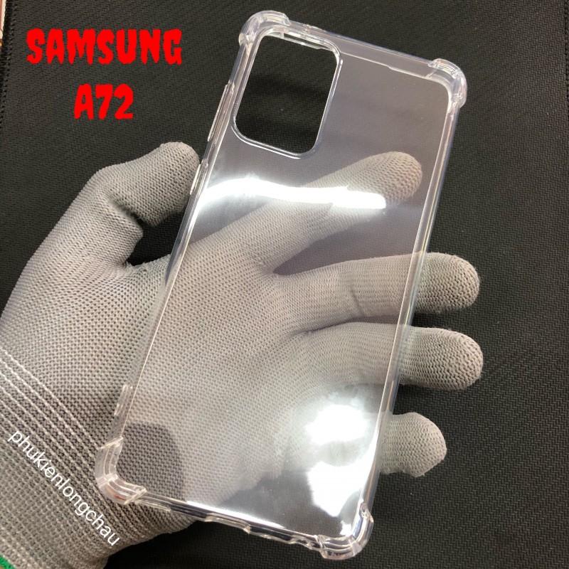 Ốp Lưng Samsung A72 Dẻo Trong Suốt Chống Sốc Có Gù Bảo Vệ 4 Gốc