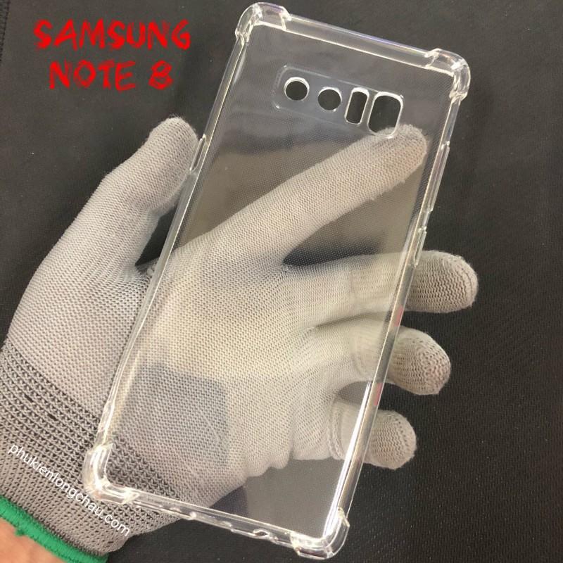 Ốp Lưng Samsung Note 8 Dẻo Trong Suốt Chống Sốc Có Gù Bảo Vệ 4 Gốc