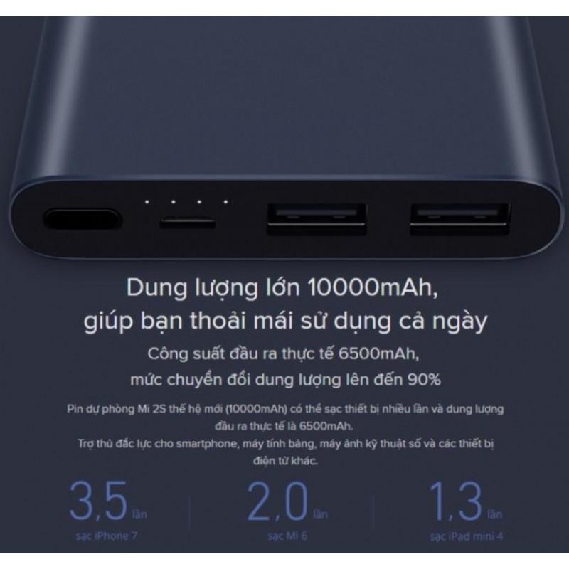 Pin Dự Phòng Xiaomi Mi Gen 3 10000 mAh Sạc Nhanh 18W (BH 12T)