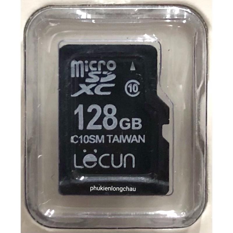 Thẻ Nhớ Camera, Điện Thoại Micro SD 128GB Class 10 Chính Hãng Lecun (BH 36T)