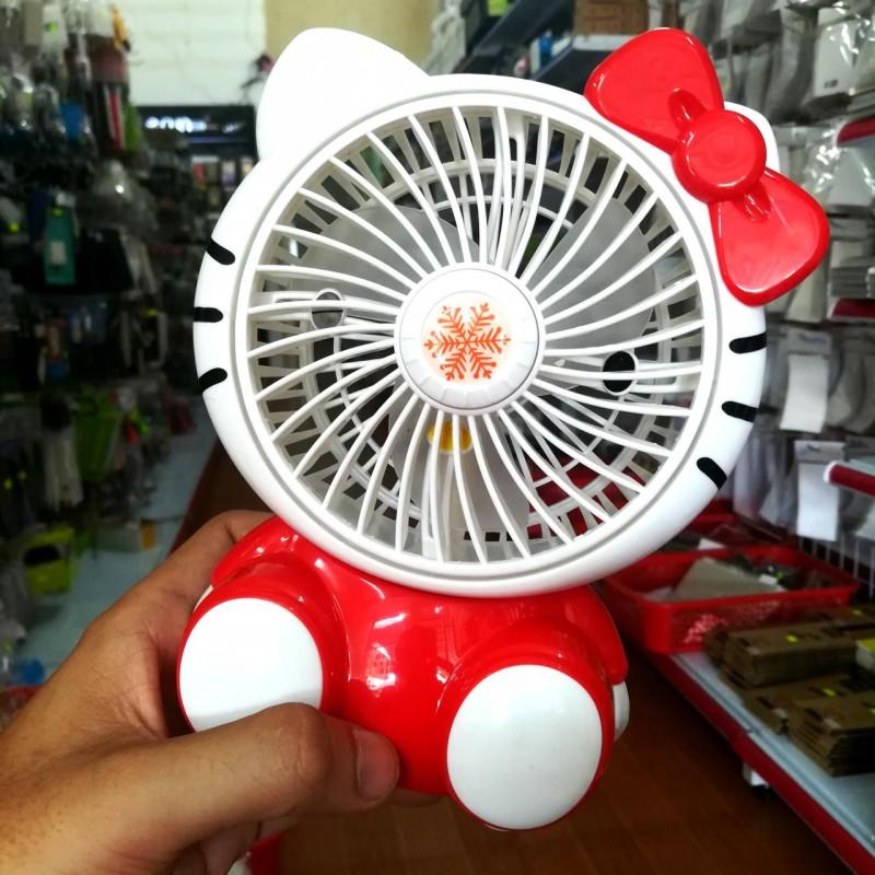 Quạt Mini Pin Sạc Hello Kitty Ngồi (BH 1T)