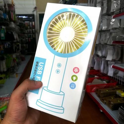 Quạt Mini Cầm Tay Pin Sạc Có Đèn Có Đế Đứng MTH660 (BH 1T)
