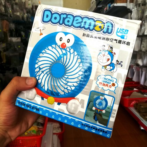 Quạt Mini Cầm Tay Pin Sạc Doremon Dể Thương (BH 1T)