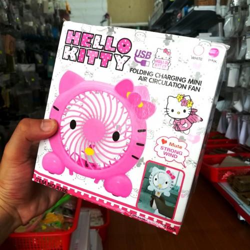 Quạt Mini Cầm Tay Pin Sạc Hello Kitty Dể Thương (BH 1T)